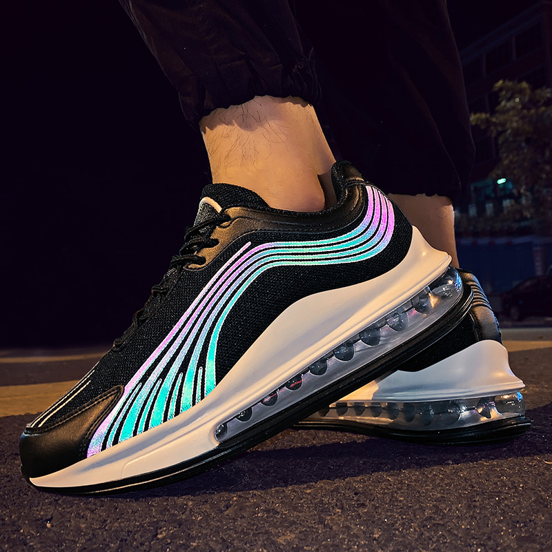 Reflective Men Running Shoes Sports Outdoor Sneakers Men Jogging Shoes Air Cushion Shoes Male Colorful Comfort Zapatillas