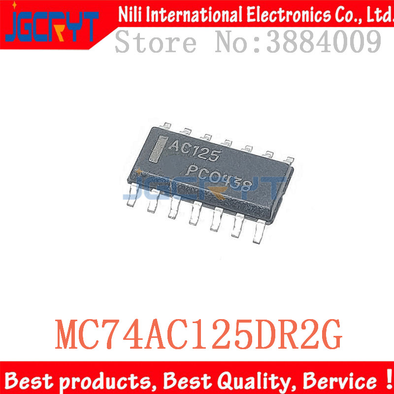 20 birimleri/lote AC125 MC74AC125DR2G SOP-14 IC BUFFER ters çevir 6V 14SOIC