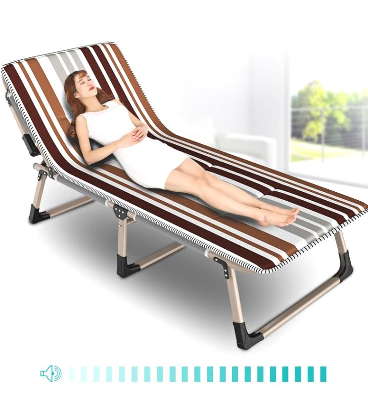 Breathable Folding Bed Single Bed Siesta Chair Office Accompanying Bed Camp Simple Bed