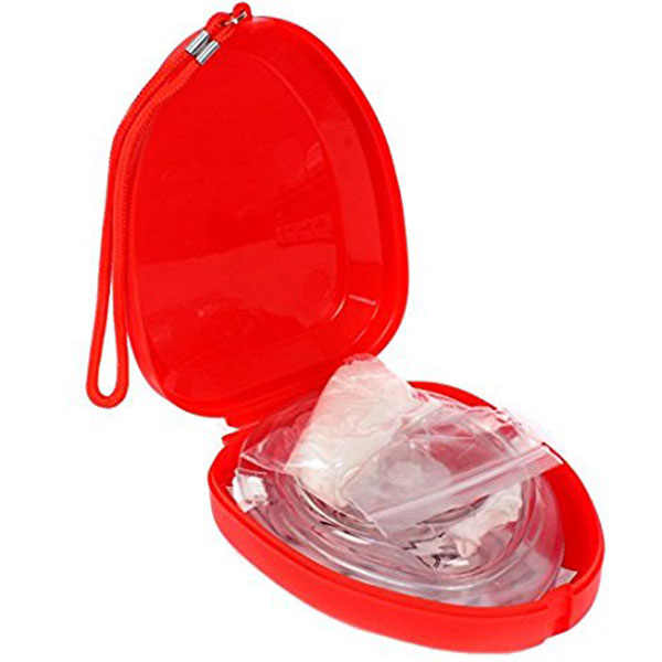 Medical CPR Rescue Mask Adult Child Pocket Resuscitator Hard Case with Wrist Strap in Safety Survival from Sports Entertainment