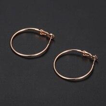 1 мм Серьги-кольца для женщин и девушек, круглое кольцо, минималистичные тонкие серьги с розовым золотом, ювелирные изделия в стиле хип-хоп, потрясающая цена GE235