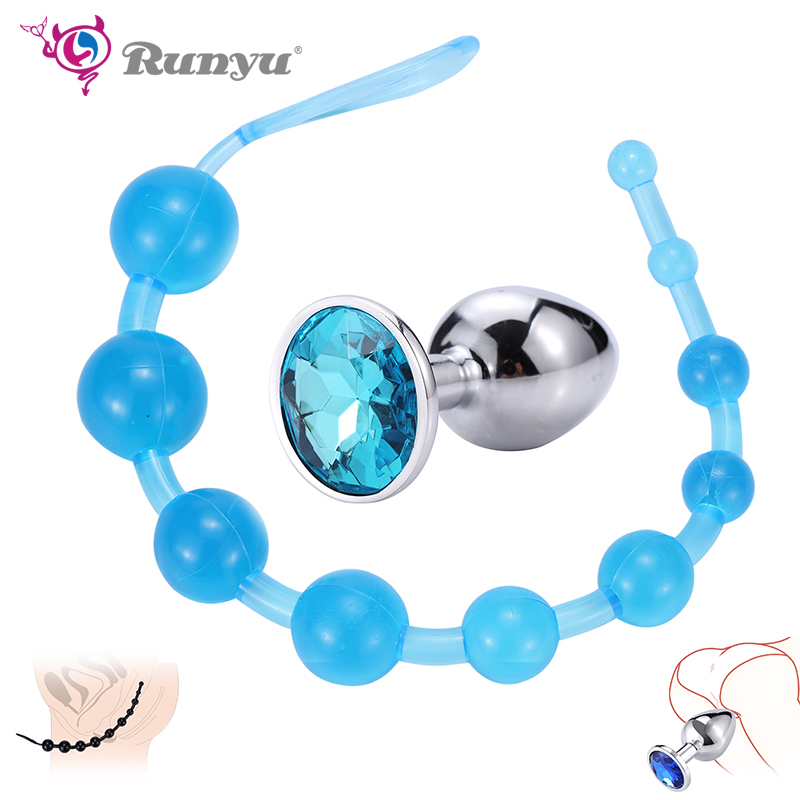 Runyu Sex Anal Toys For women Beads Butt Plug Masturbation Dildo G spot Vibrator Adult Toy Shop