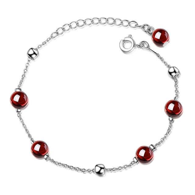 Bracelet Porte-Bonheur Pierres Grenat