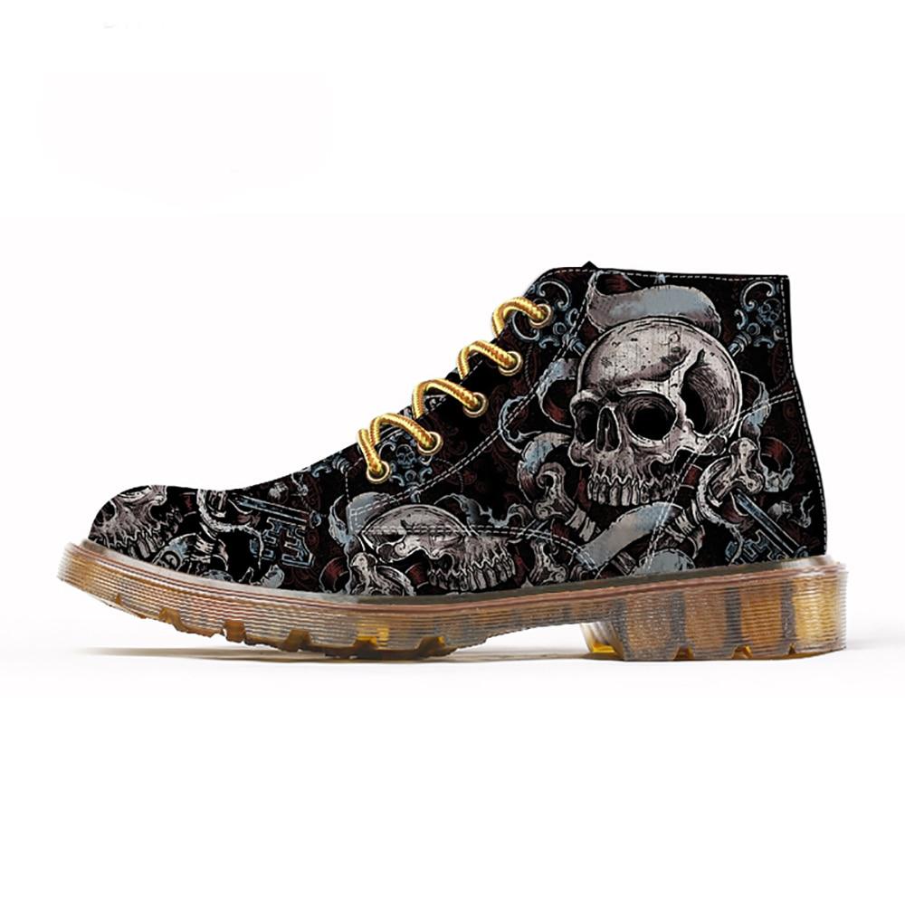 FIRST-DANCE-Fashion-Mens-Skull-Shoes-For-Men-Martins-Shoes-Skeleton-Print-Black-Nice-Ankle-Shoes (2)