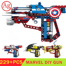 STAD Baksteen Compatibel Legoed Marvel Avengers Superheld Launch Gun Model Bouwstenen Avengersed 4 Cijfers Bricks Speelgoed Batmaned(China)