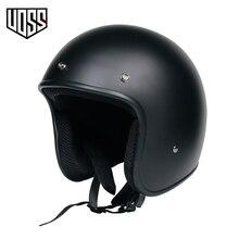 Capacete retrô com aprovação dot, capacete para motocicleta com 3/4 rosto aberto