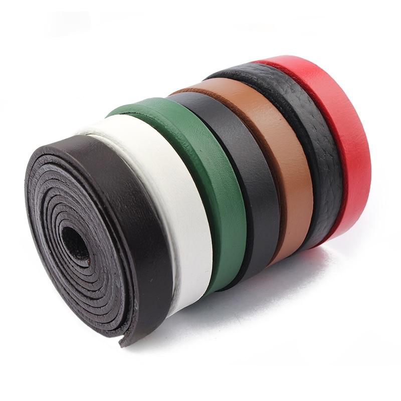 2 метра красный/черный/коричневый/белый/зеленый 10x2 мм из натуральной кожи шнур веревка для кожаного браслета ожерелье ювелирных изделий дел...