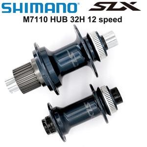 SHIMANO SLX M7110 FH BH M7110 HUB 12s 32H Center Lock 142x12mm 100x15mm MICRO SPLINE Hub E-THRU Axle Bike 12 speed