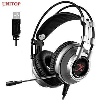 UNITOP Xiberia K9 Gaming Headphones USB 7.1 Headset for PC PS4 Xbox One Game Bass Stereo Earphones with Microphone best computer gaming headset with microphone xiberia x13 virtual 7 1 channel headband stereo game headphone ecouteur for pc game