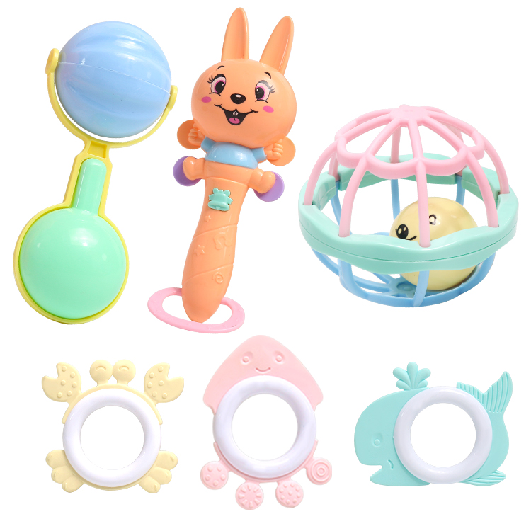 Baby Soft Silicone Teethers Stroller Toy Baby Toy Rattle Baby Toys 0-12 Months Educational Toys Baby Bed Toys Rattle Infant Toys