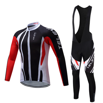 2020 conjuntos de manga longa pro ciclismo camisa bib wear mtb uniforme vestido bicicleta kits roupas estrada mountain bike ternos 1