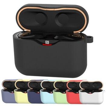 Funda para SONY WF-1000XM3, accesorios para auriculares, caja de carga, funda para SONY WF 1000 XM3, carcasa blanda de TPU con gancho antipérdida