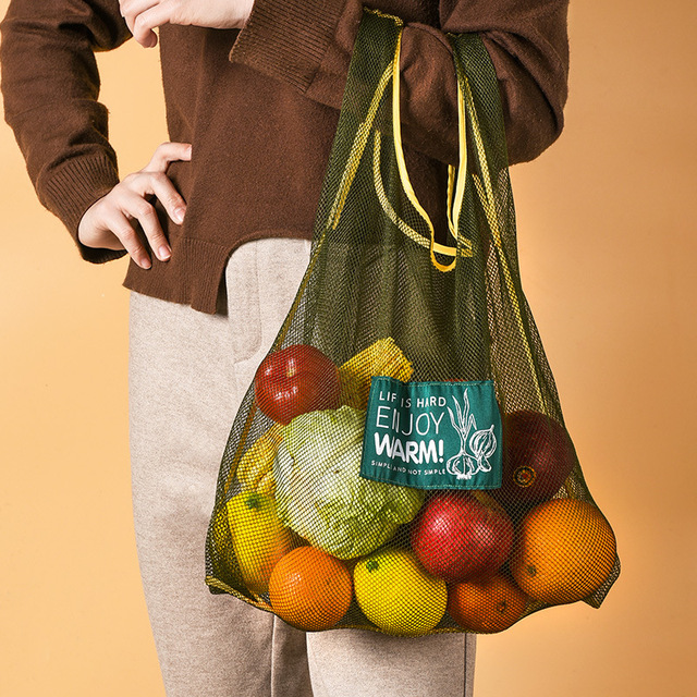 Large Fashion Multi-purpose Kitchen Onion Potato Hangable Fruit and Vegetable Storage Net Basket Hollow Bag Organize Tote Bag 1