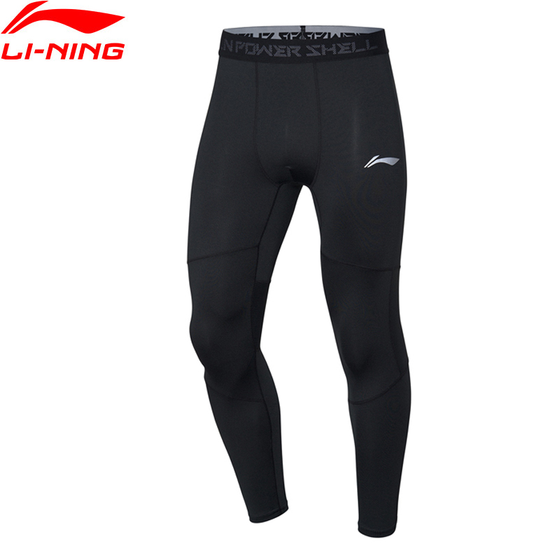 Li-Ning Men Training Layer Pants Tight Fit WARM AT FAR INFRARED Polyester Spandex Li Ning LiNing Sports Pants AULP061 MKY535