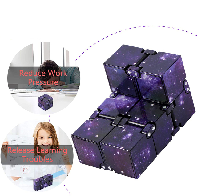 Infinity Cube Mini Toy Finger EDC Anxiety Stress Relief Cube Blocks Children Kids Funny Toys Best Gift Toys for Children 4