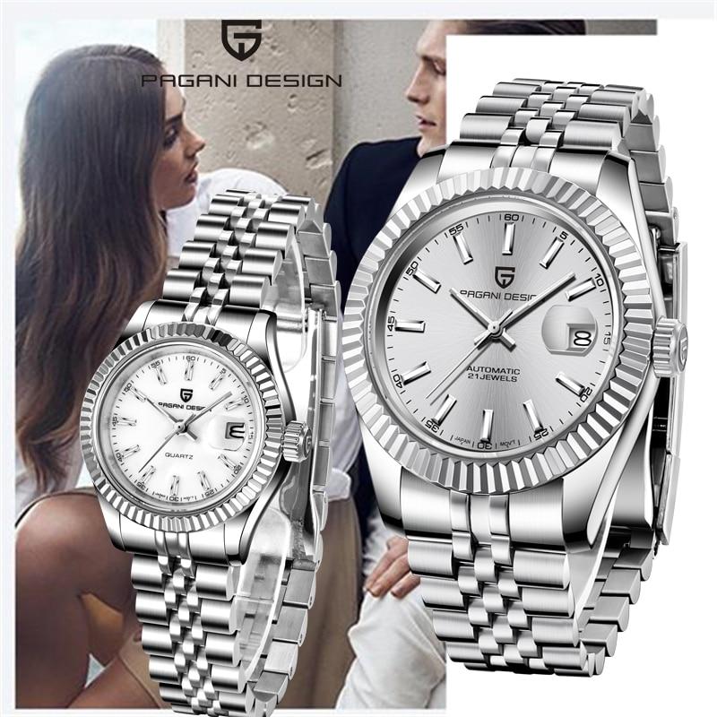 Women Watch Luxury Brand PAGANI Design Fashion Automatic Steel Mechanical Watch Men Military Sports Wristwatch Couple Watches