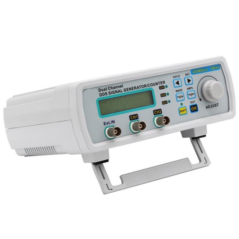 MHS-5200A Digital DDS Dual-Channel Signal Generator Source Frequency High Precision 25MHz 2CH,EU Plug