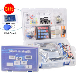 Starter Kit for Arduino Uno R3 -Breadboard / Ultrasonic Sensor / Servo /1602 LCD /UNO R3 with Tutorial and RC522 rfid Kit