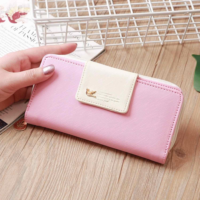 Mulheres carteiras moda senhora pulseira saco longo saco de dinheiro zíper moeda bolsa cartões id titular embreagem mulher carteira bolsa/e