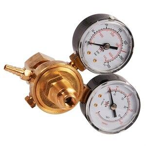 Image 4 - منظم ضغط زجاجة غاز ثاني أكسيد الكربون أرغون صغير مقياس تدفق اللحام MIG TIG W21.8 1/4 منظم 0 20 ميجا باسكال