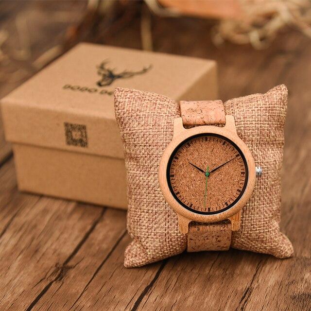 dodo deer мужские бамбуковые часы из мягкой кожи с циферблатом фотография