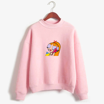 2020 New Kawaii Tops Power Puff Aesthetic Hoodie Sweatshirt  Girls Police Harajuku Streetwear Funny Cartoon Printed Hoodies
