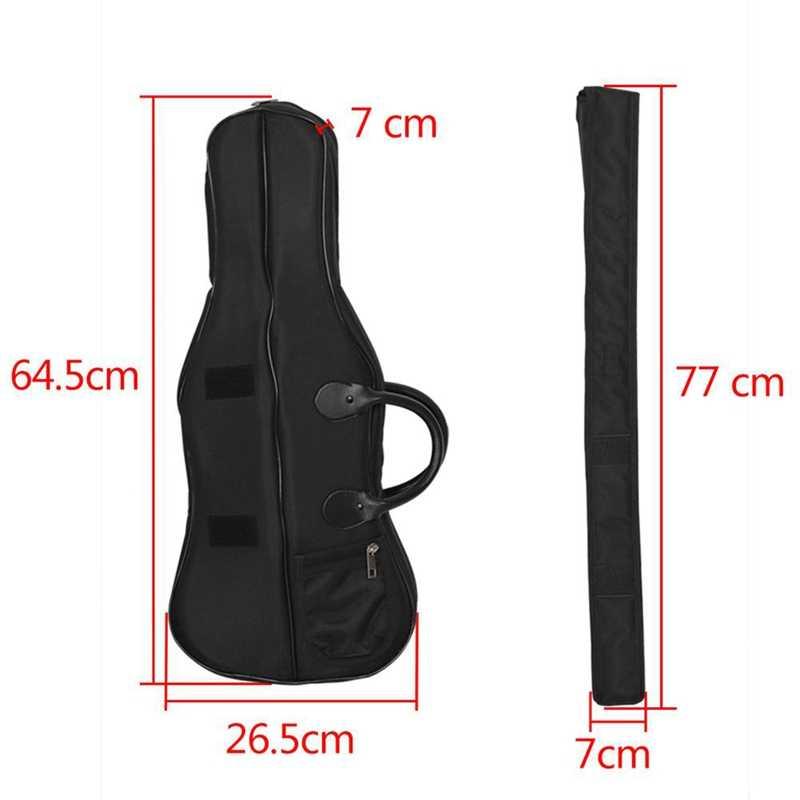 4/4 3/4 volle Größe Violine Fall Rucksack Wasserdichte Trage Tasche mit Schulter Riemen und Anti-Vibration Schwamm Schützen Violine acc
