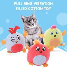 Zabawka dla kota s innowacyjny piękny wzór z ptakami bawełna Pull-ring zabawka dla kota Pull-ring wibrująca zabawka dla kota krótki pluszowy kot dostaw tanie tanio cat toy cotton Wholesale Dropshipping