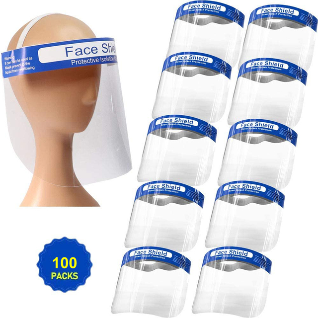 All-Purpose Safety Face Shield Clear Full Face Mask Reusable Breathable Anti-Saliva Protective Hat Windproof Dustproof  Shield