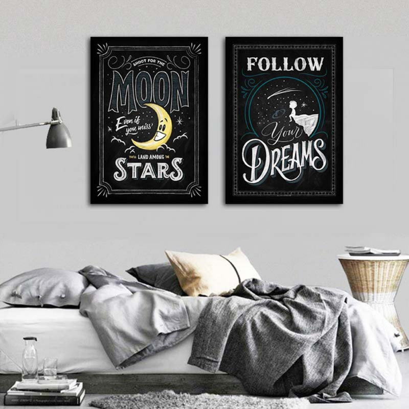 Motivational Poster Inkjet Print English Decoration For Coffee Home Painting Waterproof Home Decoration Painting No Frame ZA