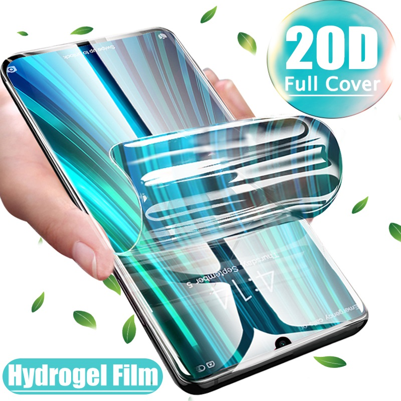 2-1 Pcs Full Cover 29D Screen Protector <font><b>Hydrogel</b></font> Film for Xiaomi Mi <font><b>Redmi</b></font> Note 7 <font><b>8</b></font> 8T Pro 8A A3 Note 10 CC9e 9 Lite Film image