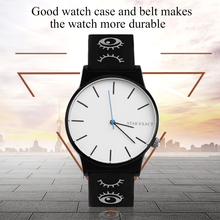 New Special Personality Floral Printed Women Men Watch Casua