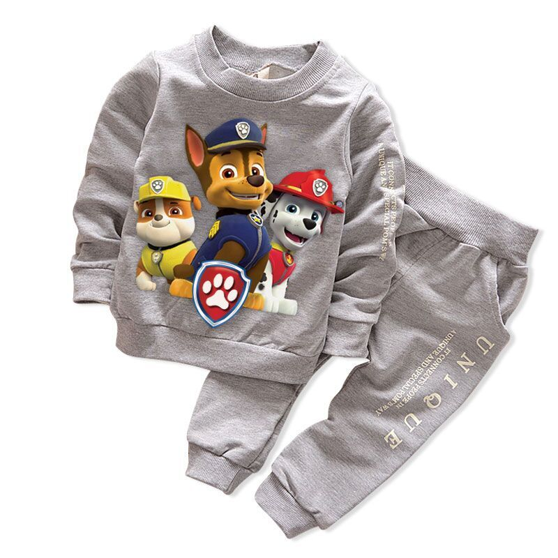2020 Autumn Winter Cute Cartoon Leisure Boys And Girls' Cotton Suit Costume Children Clothing Boy And Girl Clothing Sets