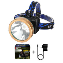 LED outdoor plastic head led light fishing /hunting /nighty camping lithium battery with reccharger