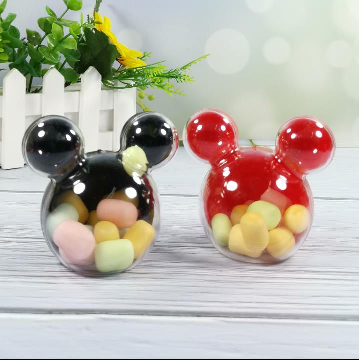 52pcs/26PCS  Plastic Mickey Candy Box Wedding Favors Candy Package Baby Shower Ideas Kids Birthday Party Gift Boxes