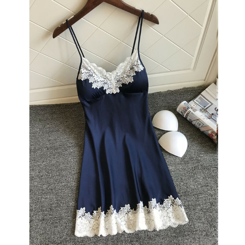 Sexy Women Nightgown Lingerie Silk Dress Lace Up Babydoll Sexy Sleepwear Nightdresses Hot
