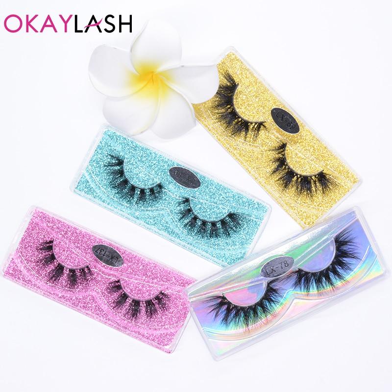 OKAYLASH  3D Natural Real Mink False Eyelash Cosmetic Fluffy Thick Fluffy Fake Eye Lashes Wholesale Makeup Beauty Lash