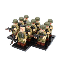 New WW2 USA Army Soldiers Figures Blocks 101ST Airborne Division Helmet Weapons Accessories Building Bricks Toy For Children