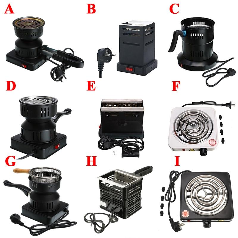 Drop Ships EU Plug 220V Shisha Hookah Charcoal Stove Heater Mini Square Charcoal Oven Hot Plate Coal Burner Pipes Accessories