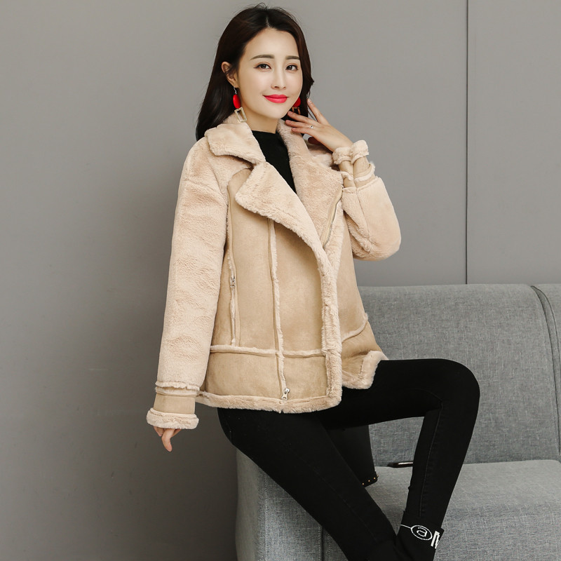 Séance Photo 2018 hiver tendance Hong Kong saveur coréen-style court lapin vison cheveux peau de daim velours plus veste de velours
