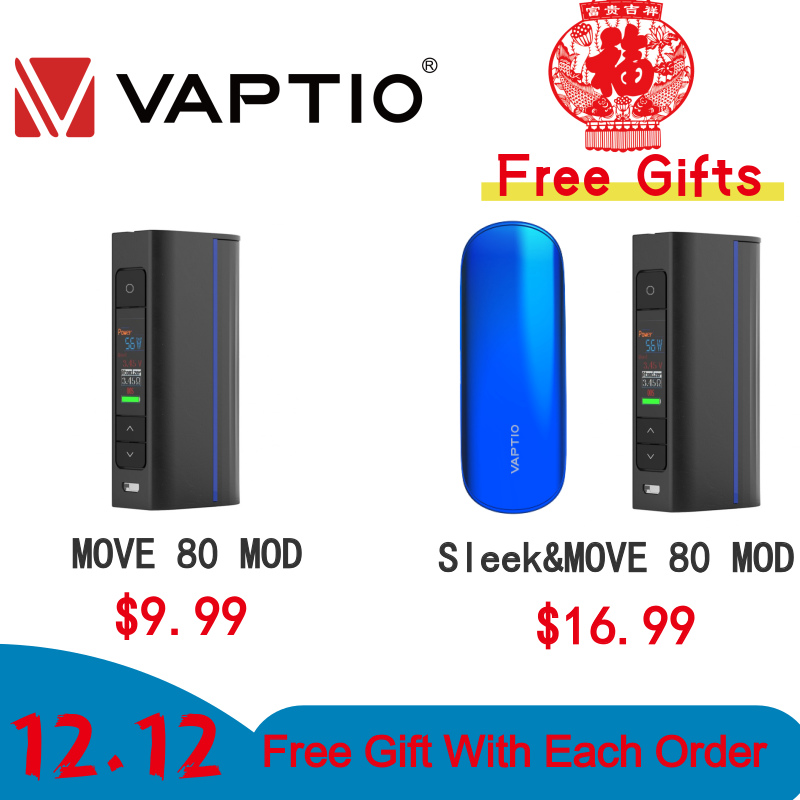 [12.12 +$1 Get 2 PCS ,Last 12 Hours] Vape Electronic Cigarette Mod Vivakita Move Grand 80W Box Mod Fit Atomizer 510 Thread