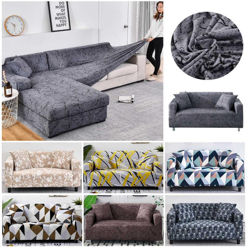 Эластичный Набор чехлов для диванов из хлопка универсальные чехлы гостиной