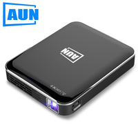 AUN MINI Projector,2 hours Standby Time.Smart Phone Screen Mirroring for Home Cinema.HDMI 1080P Display.Portable 3D Projector X3