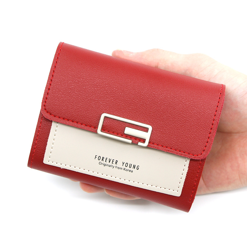 Women's Wallet Short Girls Coin Purse Fashion Wallets For Woman Card Holder Small Ladies Wallet Female Hasp Mini Clutch For Gift