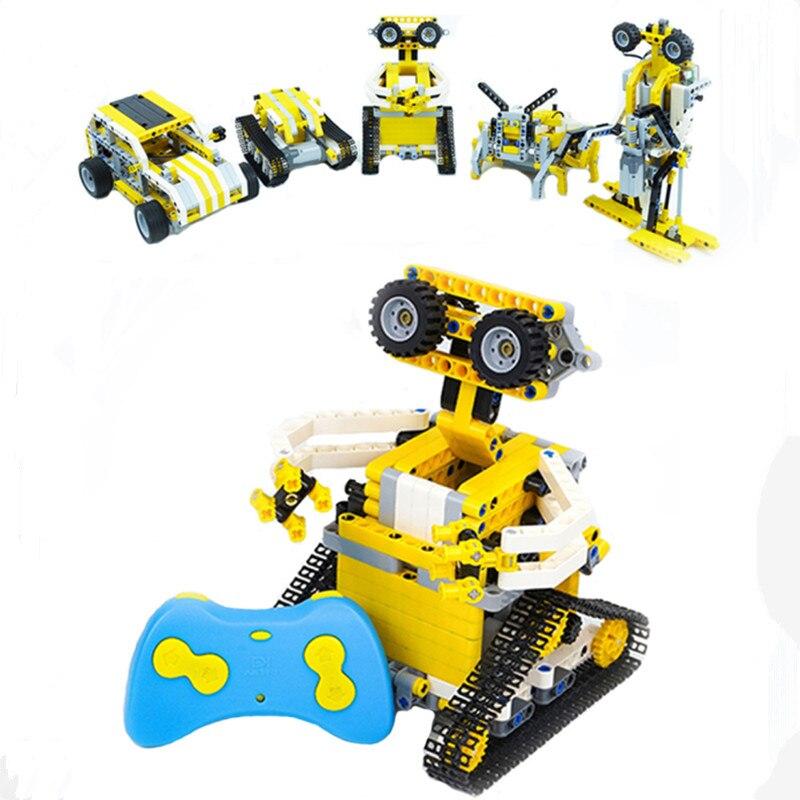5 в 1 микро блоки RC Гусеничный гоночный автомобиль двойной электрический двигатель мощность Funtion Fit Technic город кирпичи сборки строительные бл
