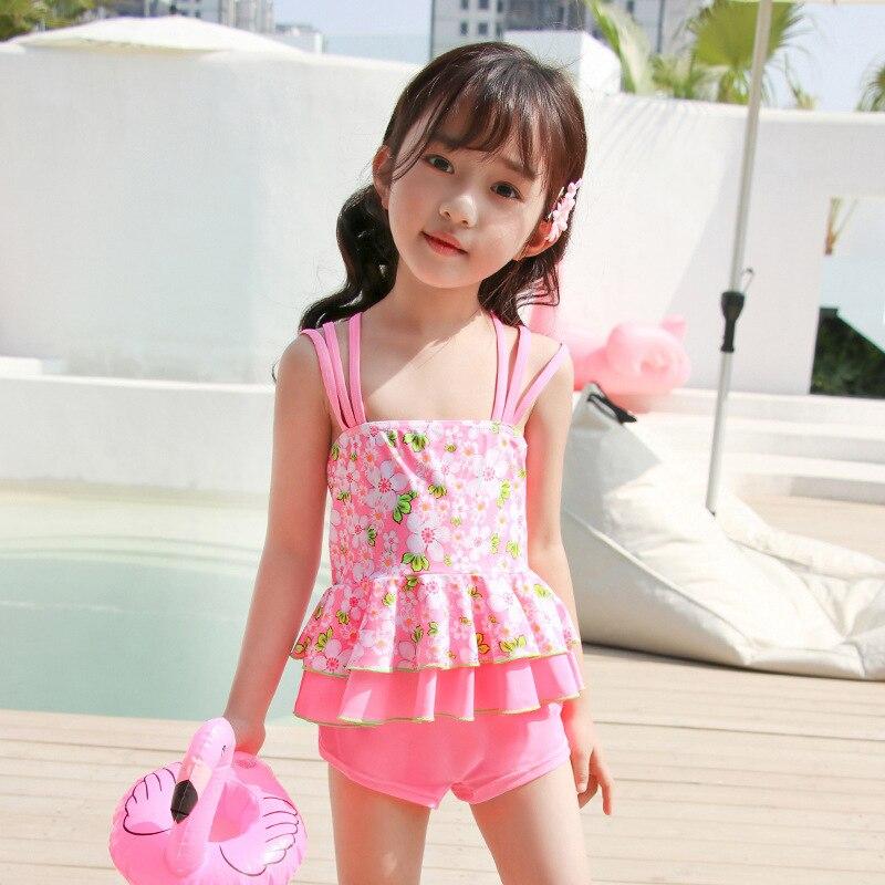 KID'S Swimwear GIRL'S Swimsuit Cute Large Children South Korea Korean-style Students Split Skirt-Tour Bathing Suit