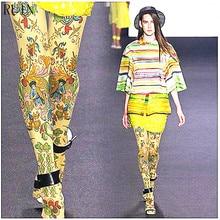 الخراب المرأة الجوارب الفارسية العرقية الغريبة نمط جوارب طويلة الإناث فتاة الجوارب 140D