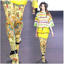 RUIN womens tights Persian ethnic exotic style pantyhose female girl tights 140D