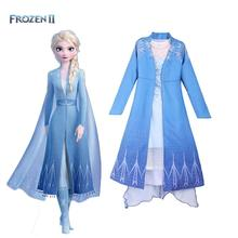 2019 neue Film Gefrorene 2 Fantasia Ball Baby Mädchen Anna Elsa Party Prinzessin Blau Kleid Kinder cosplay anime Kostüm Karneval kleid