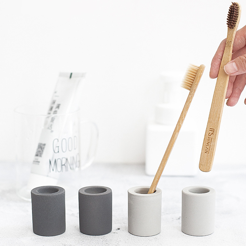 Toothbrush holder bathroom accessories portable travel toothbrush cover cup tool set toothbrush holder dry moisture absorption image